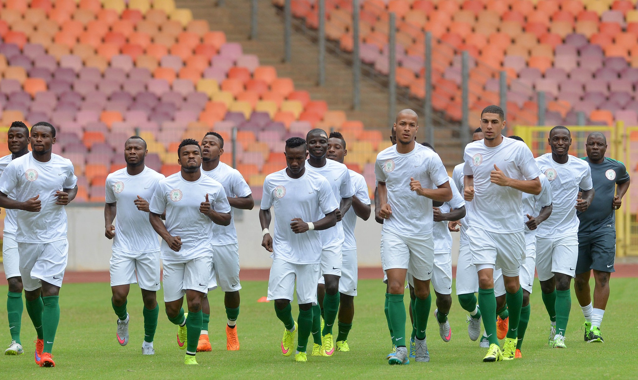 Echiejile Eager For Swaziland Vs Super Eagles Action
