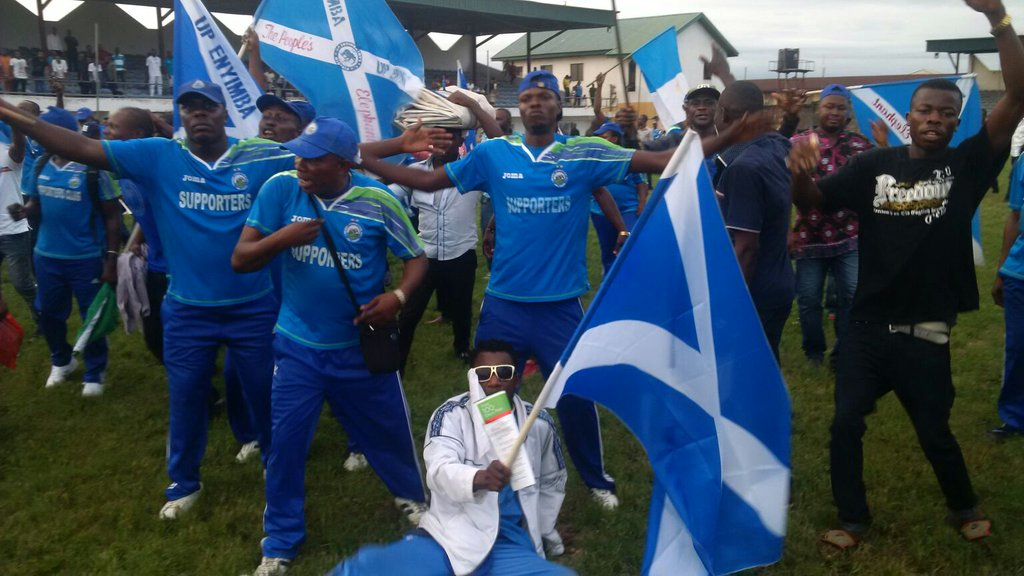 Enyimba Pip Warriors, Close In On League Title; Wolves, Wikki Win
