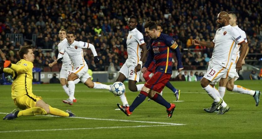 UCL: Messi, Suarez Lead Barcelona Spanking Of Roma