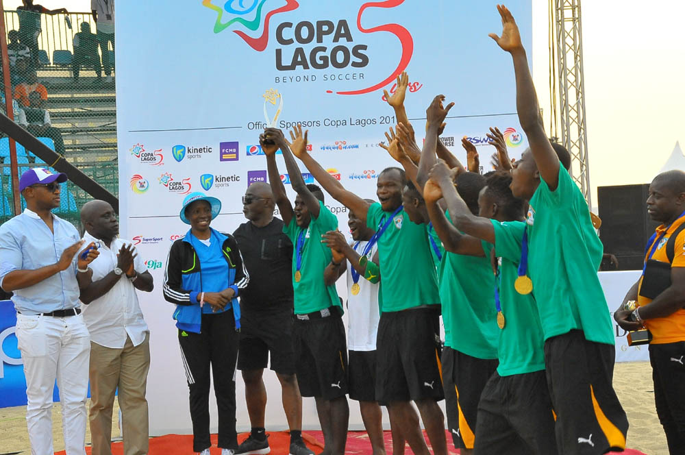 Ivory Coast  Edge England, Retain COPA Lagos Crown