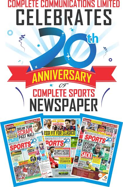 Complete Sports Celebrates 20th Anniversary Today!