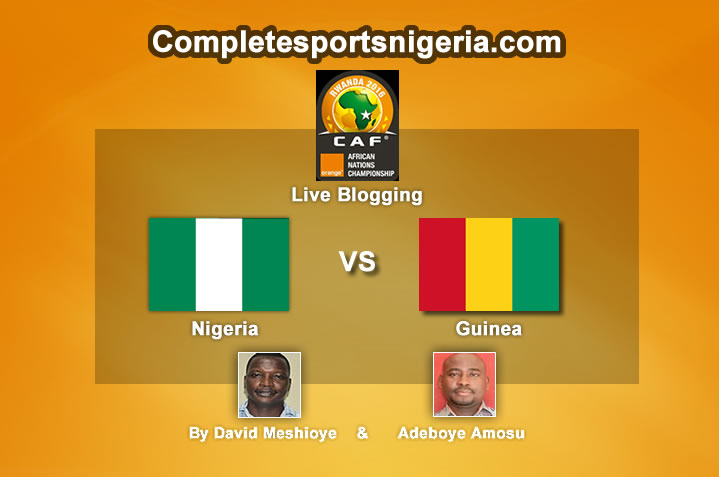 Minute By Minute: Nigeria Vs Guinea