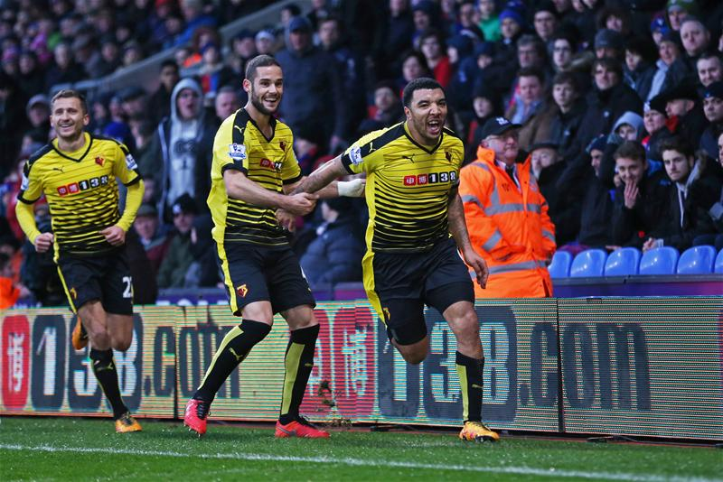 Deeney Hits Brace, Adebayor Scores As Watford Pip Palace