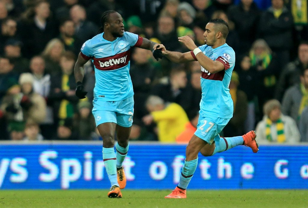 Moses Shines, Emenike Plays In West Ham Fightback Vs Norwich