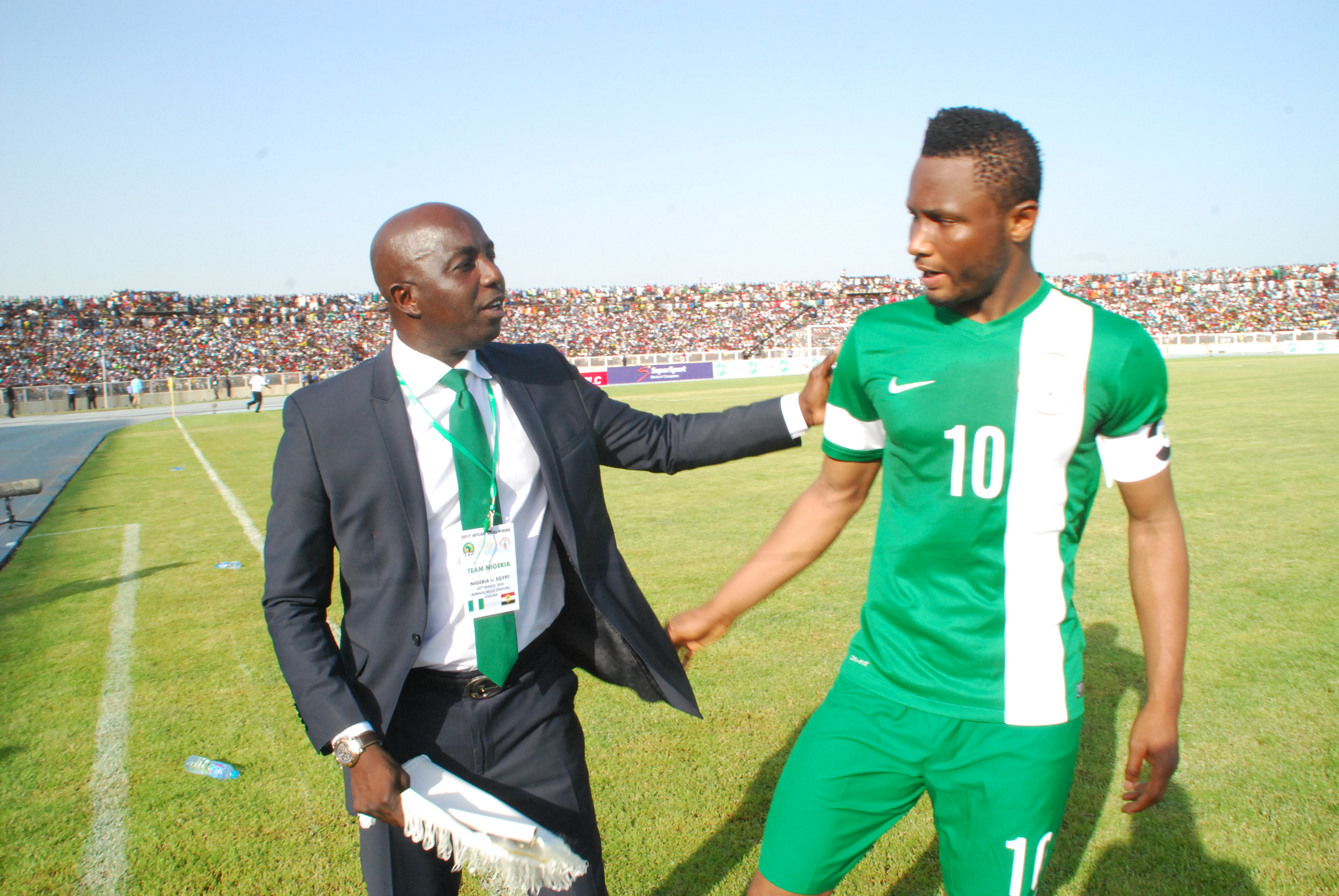 Siasia, Mikel Promise Victory As Eagles Land In Alexandria