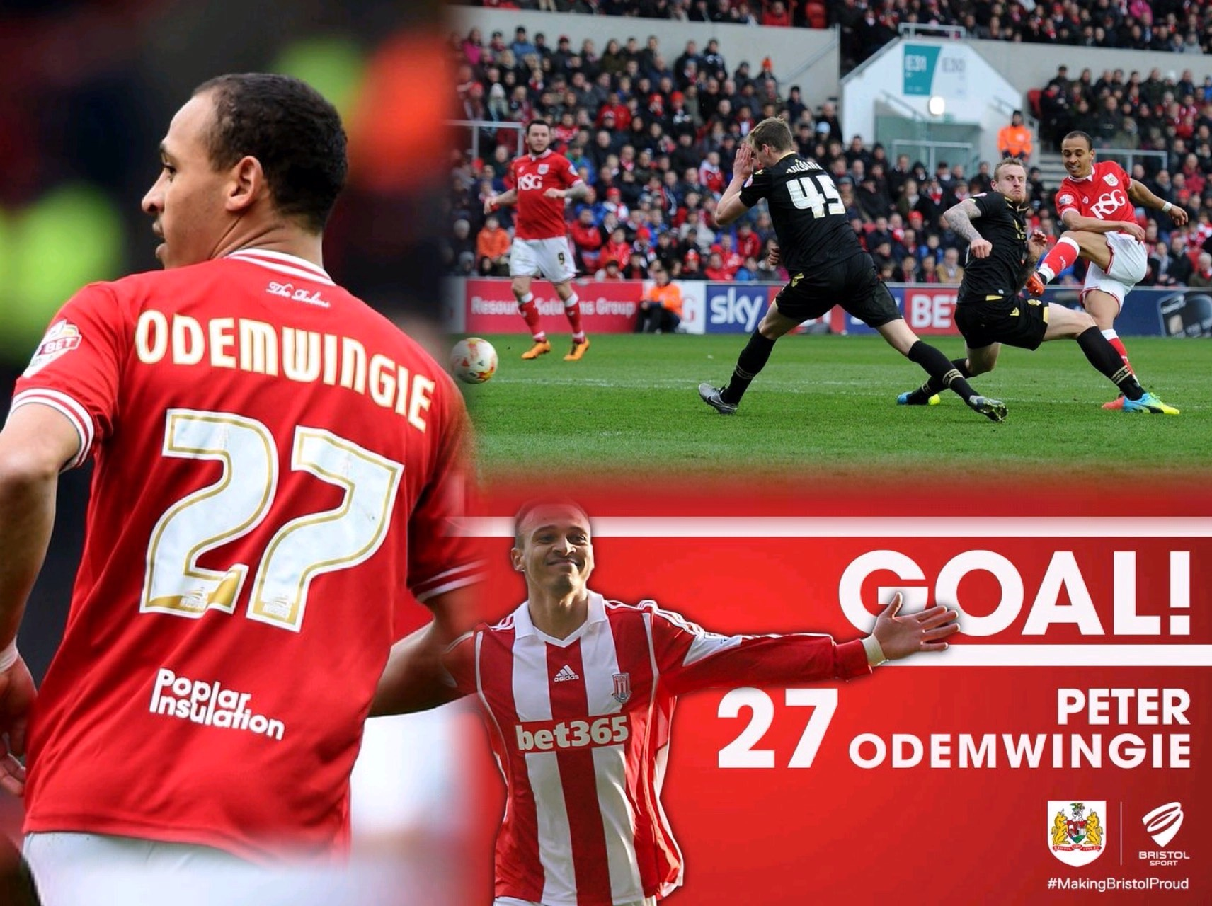 Odemwingie Celebrates Home Debut Goal For Bristol City