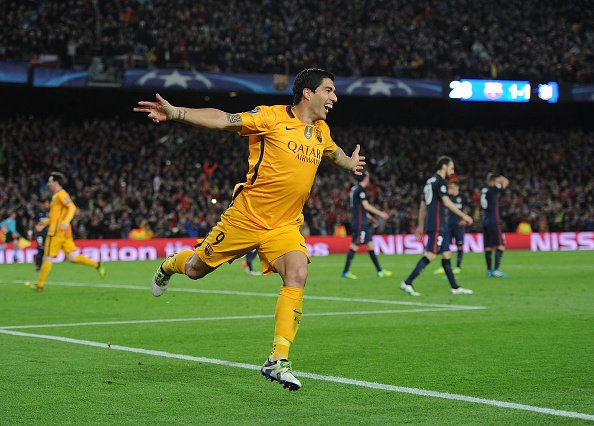 Suarez Stars As Barca Overcome 10-Man Atletico, Bayern Edge Benfica