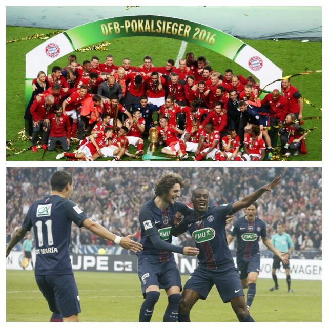 Bayern, PSG Win German, French Cup Finals