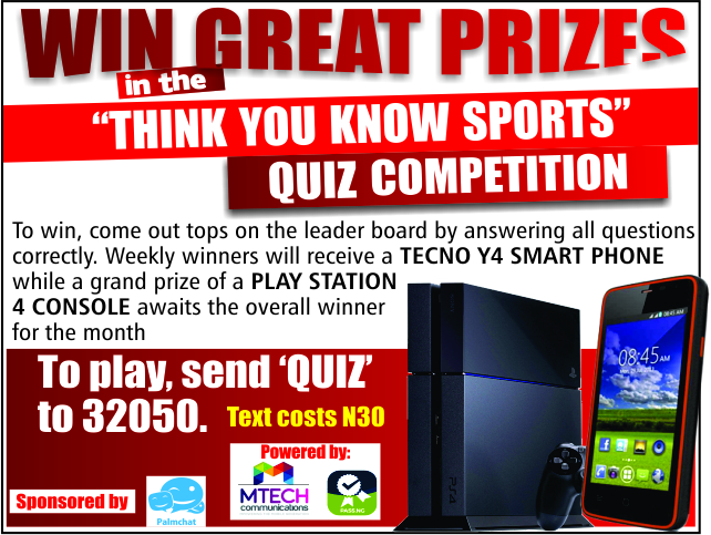 """"""" Think You Know Sports """" Quiz Competition – CLOSED"""