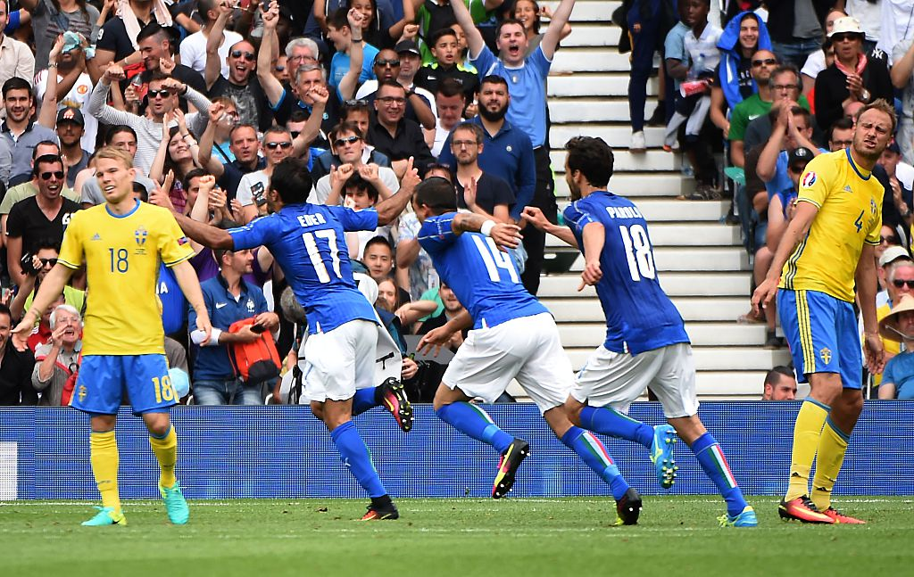 Eder Scores Late As Italy Beat Sweden, Reach 2nd Round