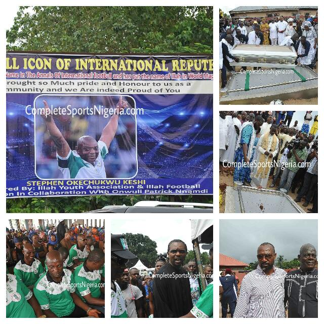Kanu, Eguavoen, Adepoju Mourn As Keshi Is Buried Amid Tears, Tributes