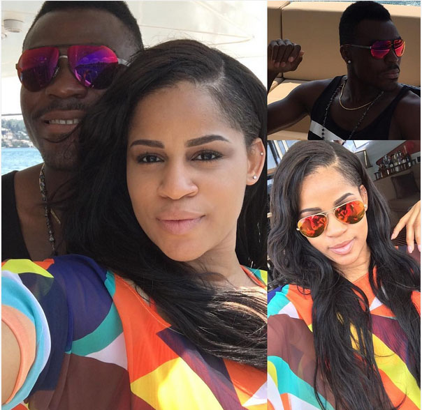 "Emenike Shows Off His ""Special One"", Ex-Miss Nigeria"