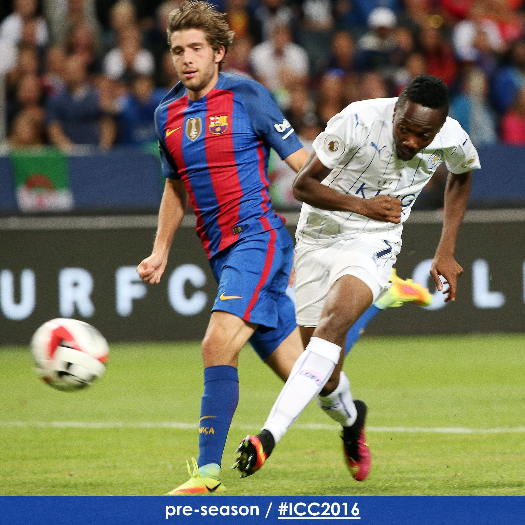 Musa Bags Brace, Outshines Messi As Barcelona Edge Leicester