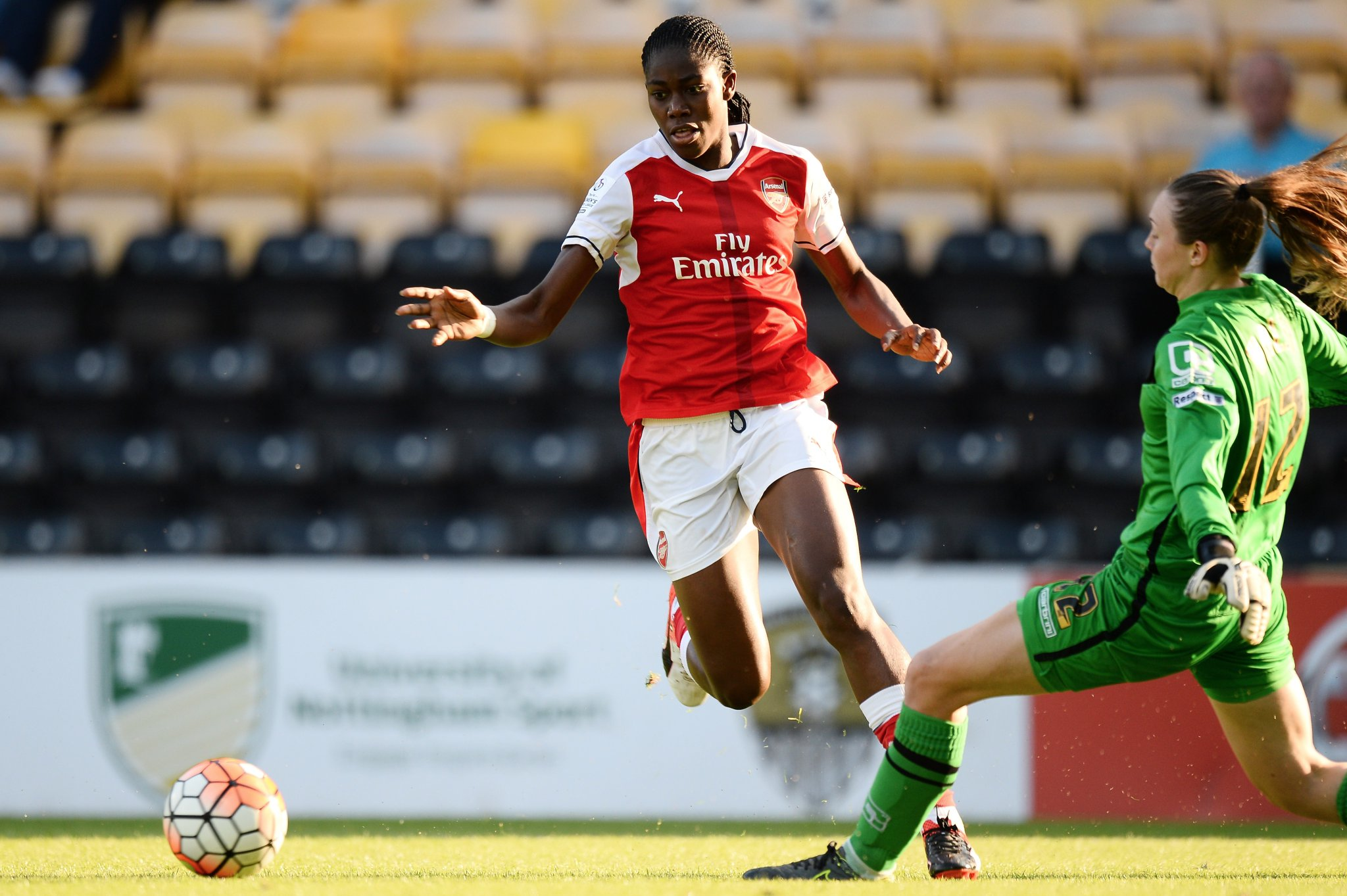 Oshoala On Target As Arsenal Ladies Outscore Notts County