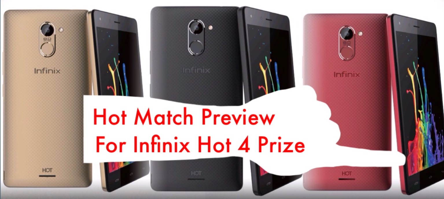 WIN INFINIX HOT 4 PHONE AT COMPLETESPORTSNIGERIA.COM