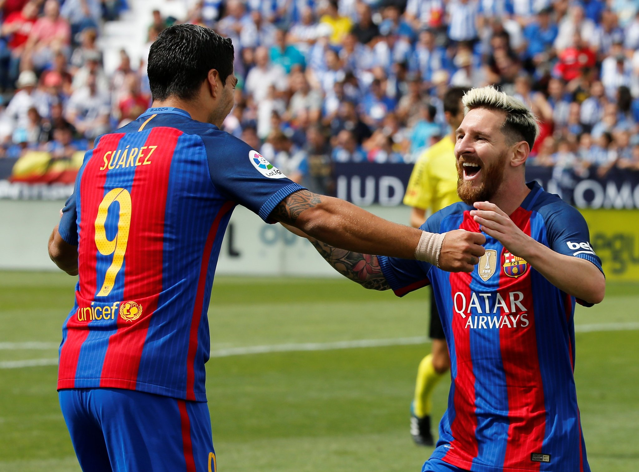 Messi, Suarez, Neymar Score As Barcelona Pound Leganes