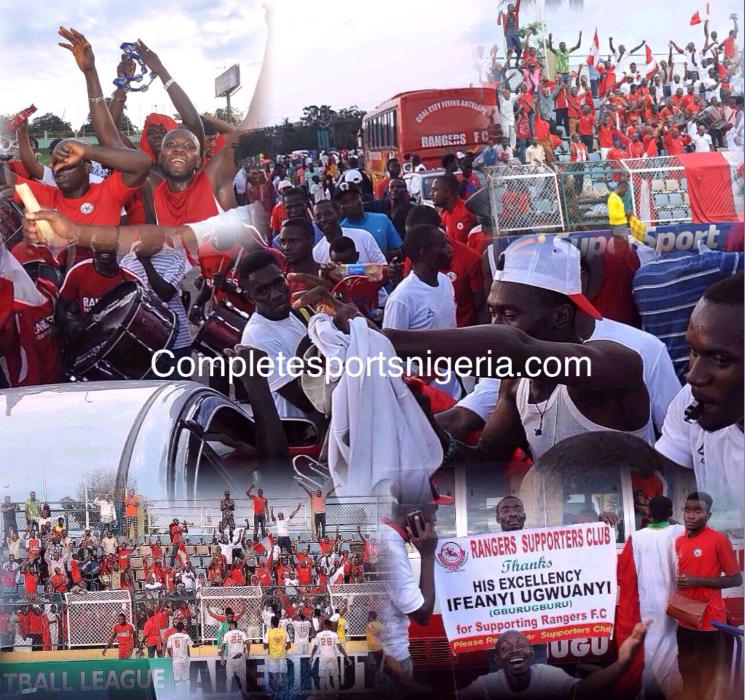 Onitsha Traders Storm Enugu To Welcome Rangers' League Trophy‎