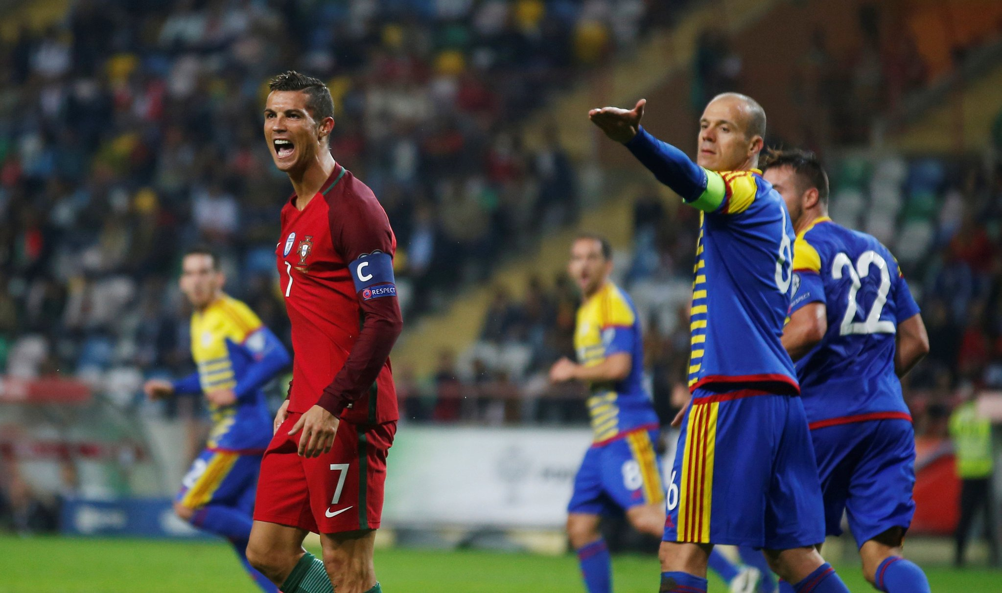 Ronaldo Bags Four In Portugal Victory; France, Belgium, Faroe Islands Win