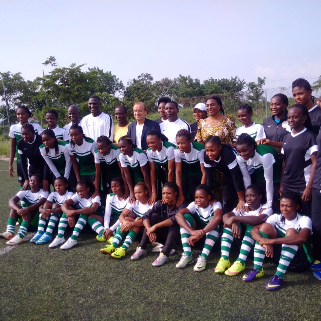 "Rohr Gives ""Strong Contenders"" Falconets U-20 WWC Tips"