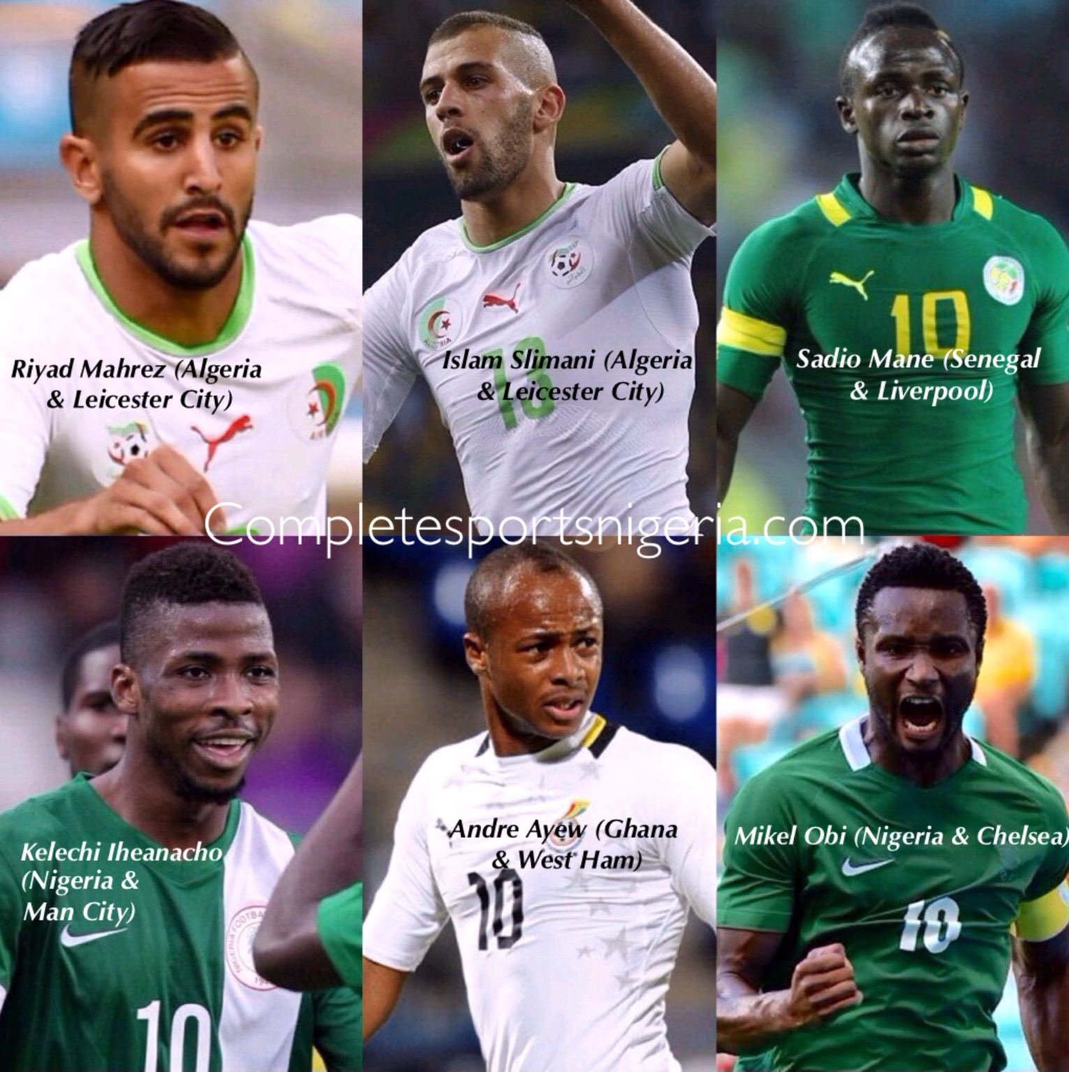Odegbami: 2016 Africa's Best Player Award – Who Will Win It?