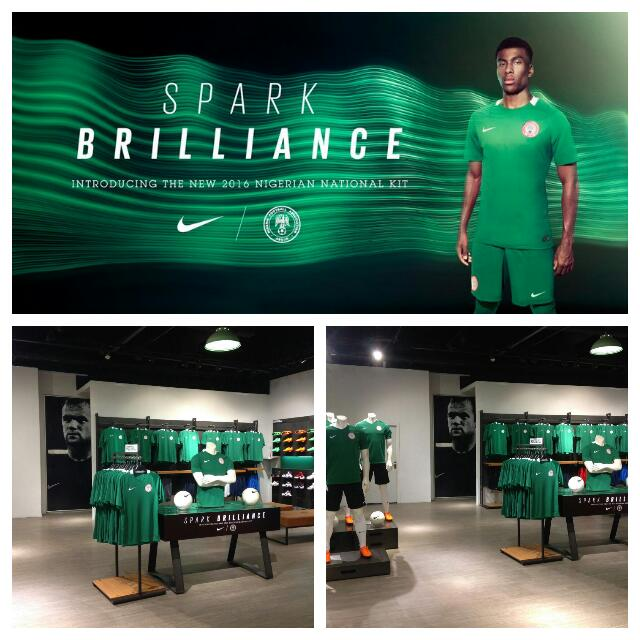 Iwobi Models New, All-Green Super Eagles Jersey