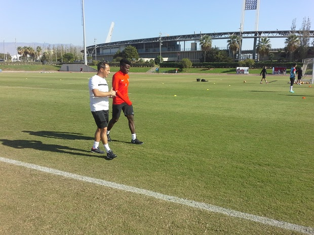 Azeez Returns To Almeria Training From Injury Setback