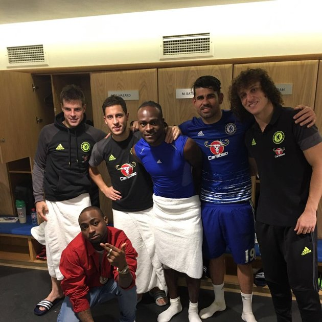 Moses Celebrates Chelsea Win With Davido, Gets Rio Praise