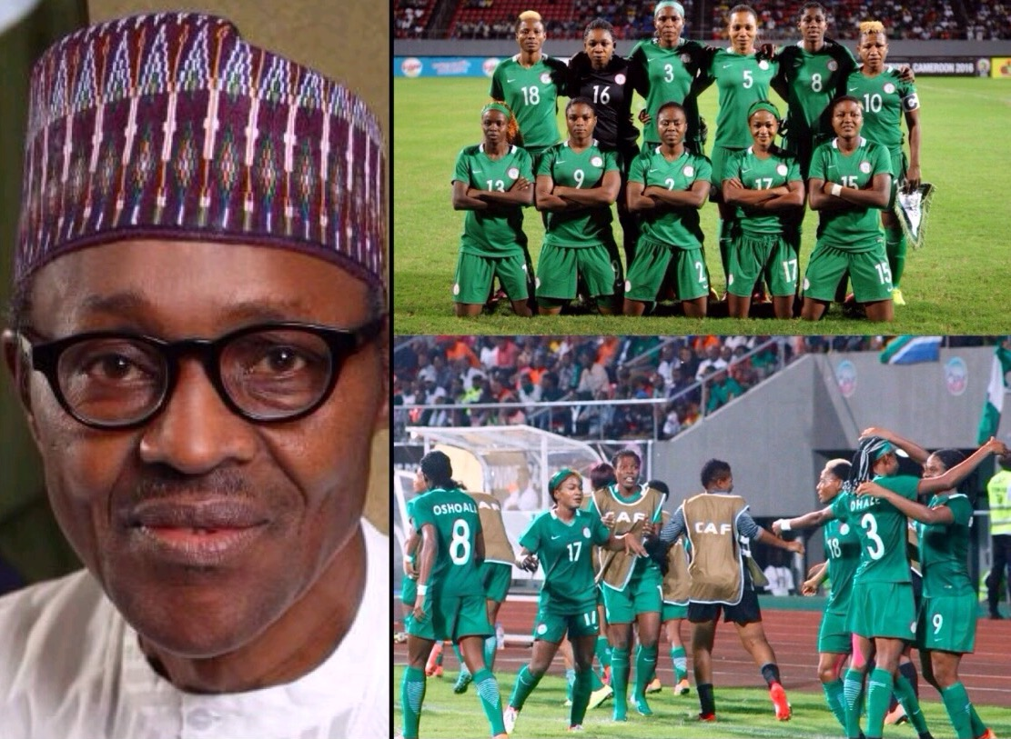 President Buhari Hails Super Falcons' Progress To AWCON Final