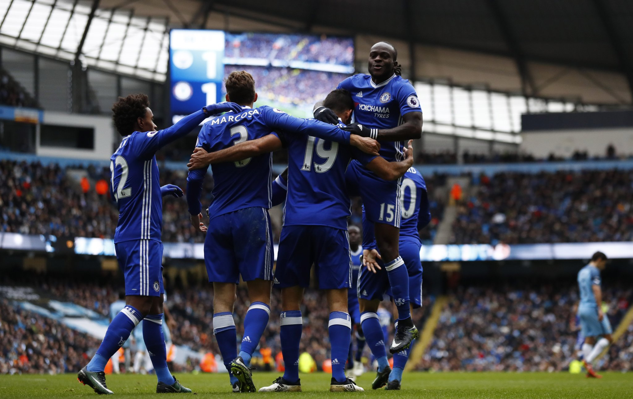 Moses Shines Again As Chelsea Outclass 9-Man City