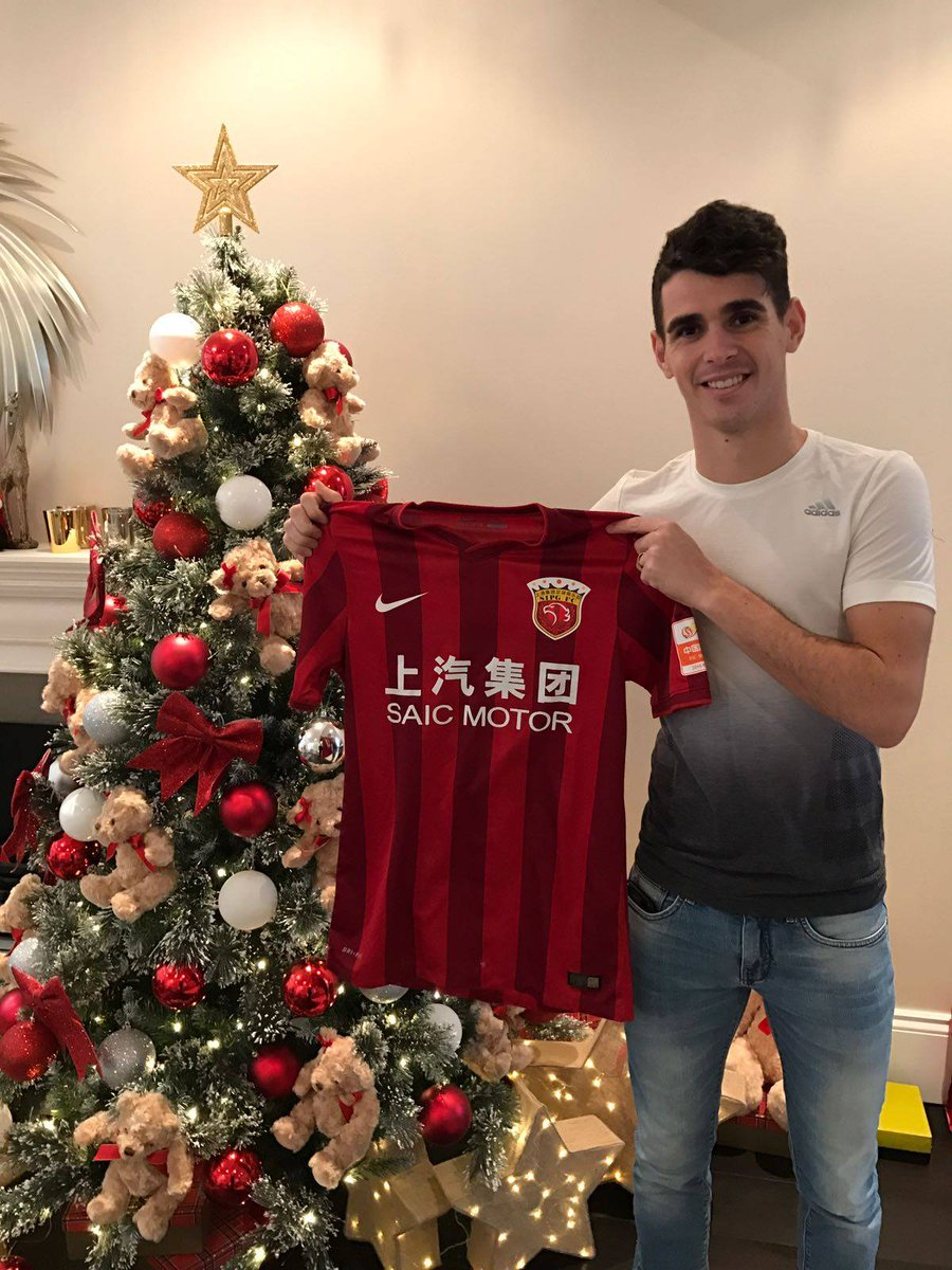 Chelsea Confirm Oscar's £60m China Move