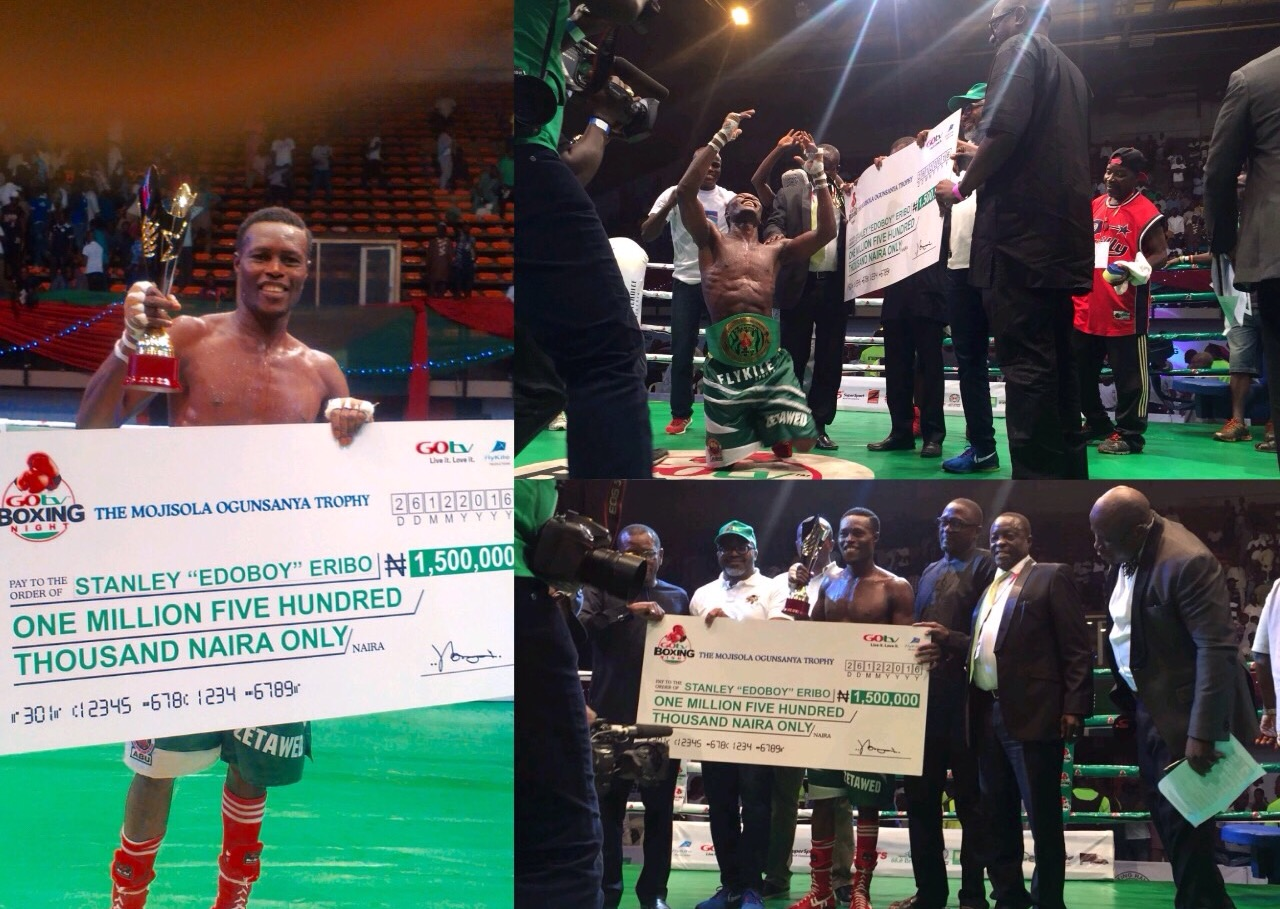 Eribo Is GOtv Boxing Night's Best Boxer, Grabs N1.5m Cash Prize
