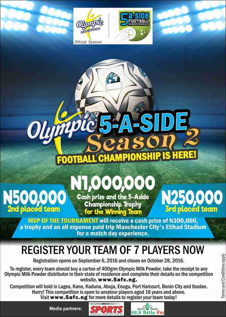 16 Teams Qualify To Fight For Olympic 5-A-Side Season 2 Title