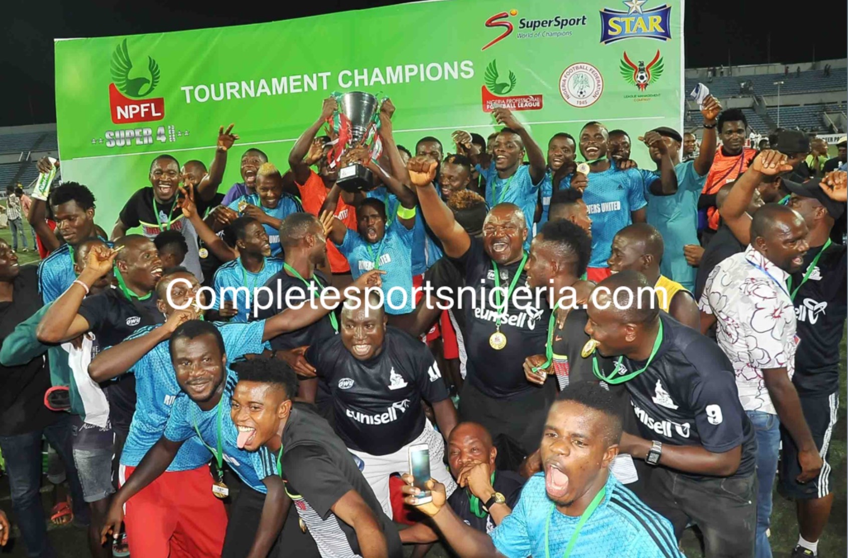 CHAMPIONS: Rivers United Win Super 4 Title As IfeanyiUbah Hold Rangers