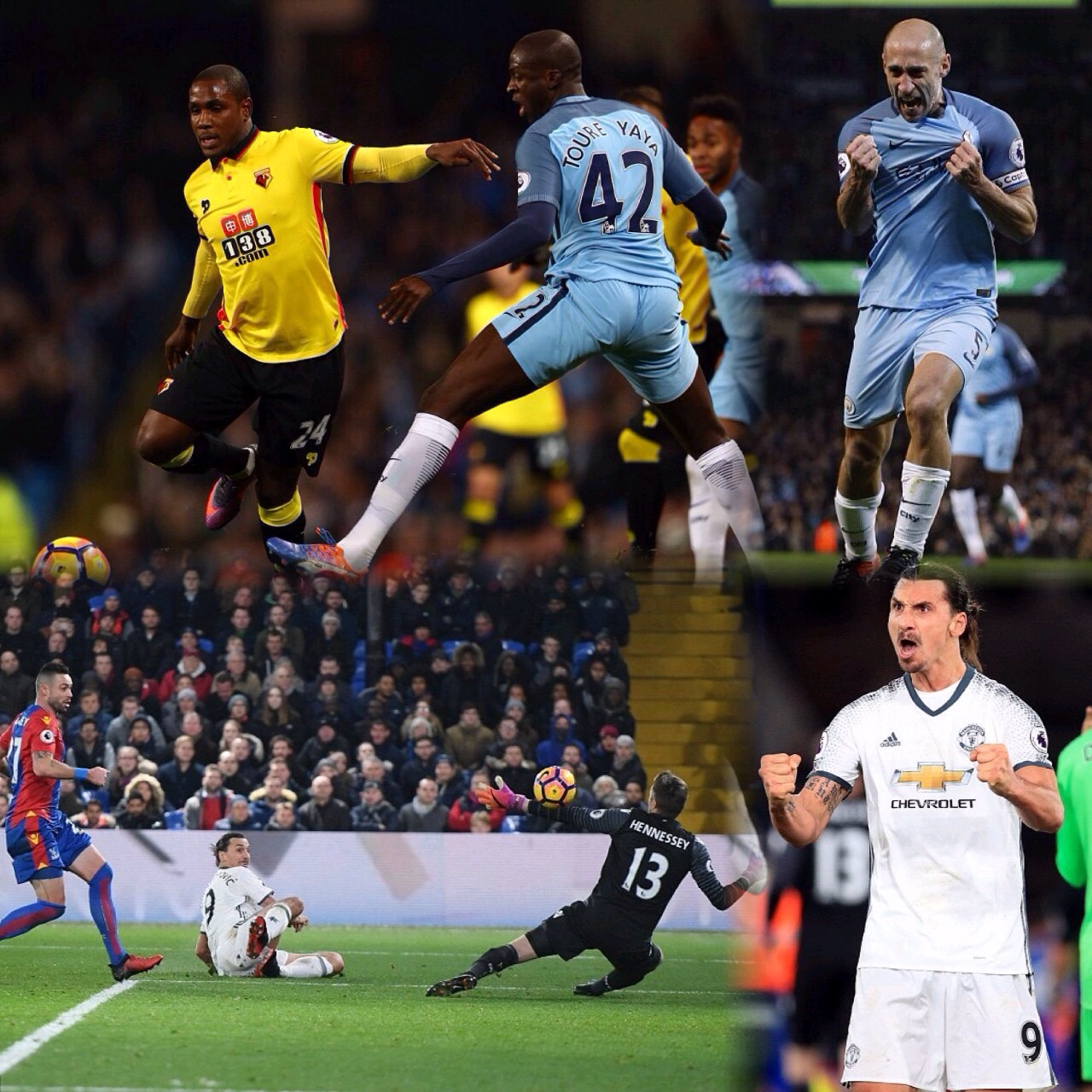 Ighalo, Success Return In Watford Defeat To City;  Pogba, Zlatan Win it For United