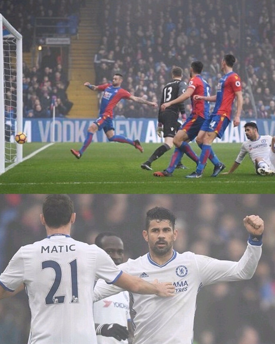 Costa Scores, Moses Stars As Chelsea Win At Crystal Palace
