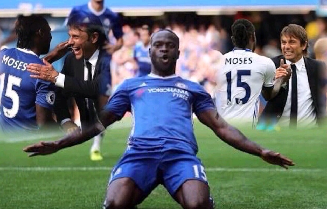 Conte Hints At Moses Availability For Stoke Vs Chelsea, Dispels Exit Rumours