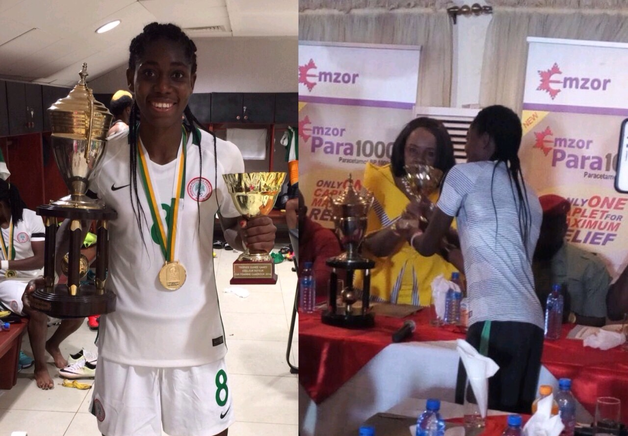 Oshoala: I'm Happy To Win My 2nd AWCON Title