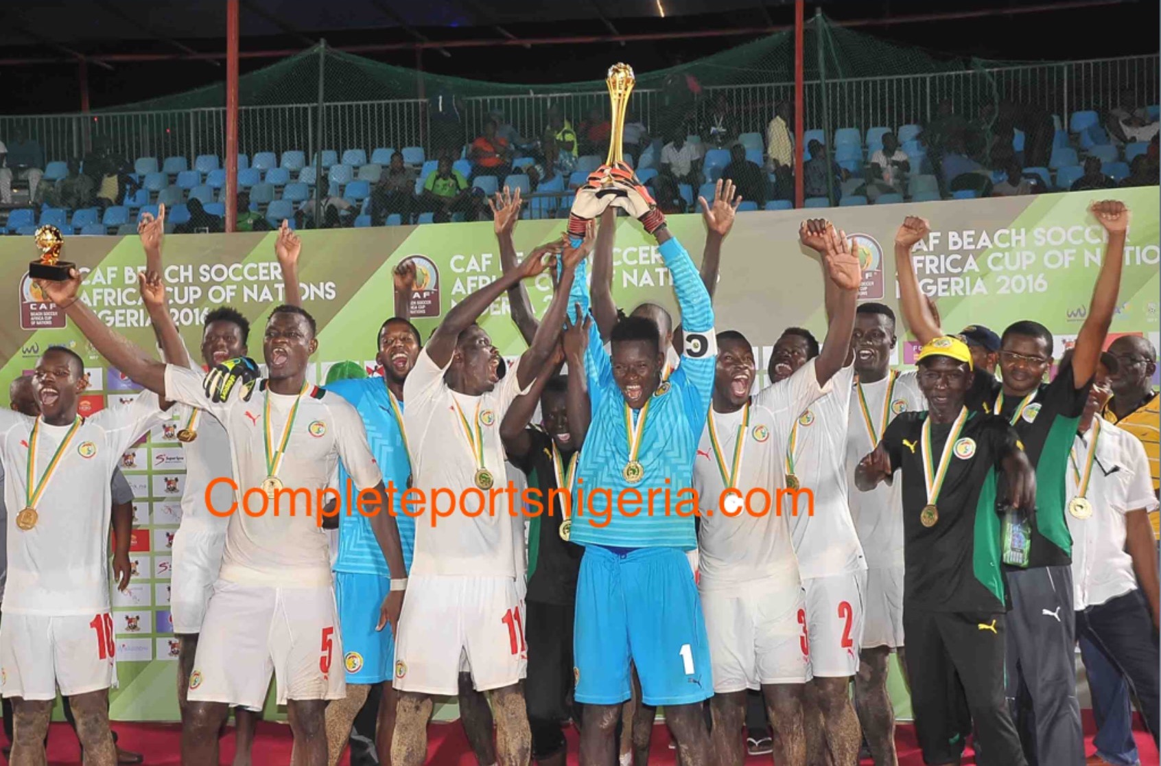 Champions! Senegal Outclass Sand Eagles 8-4 , Win 4th African Title
