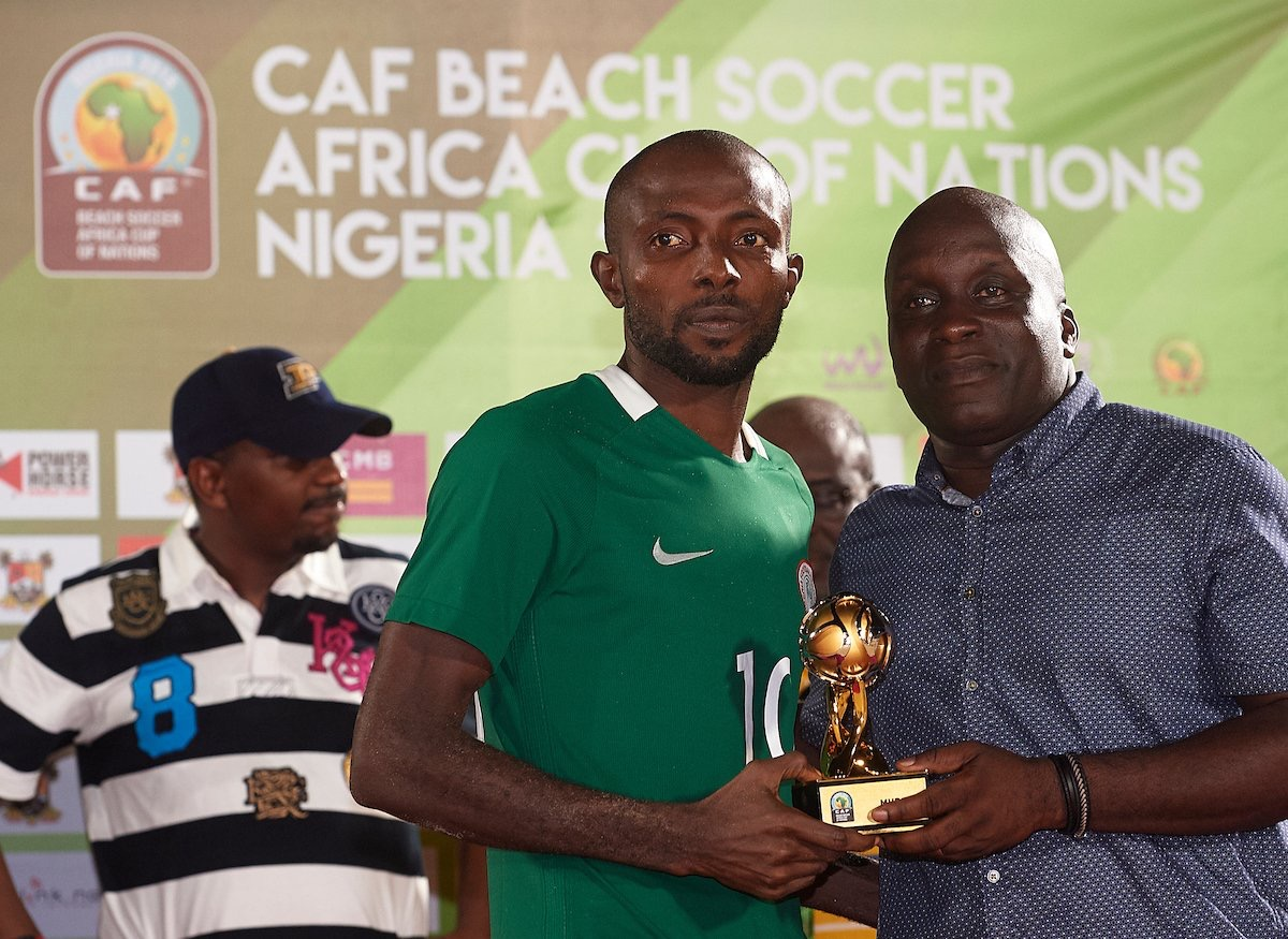 Nigeria's Ogbonna Is MVP of 2016 Beach Soccer AFCON