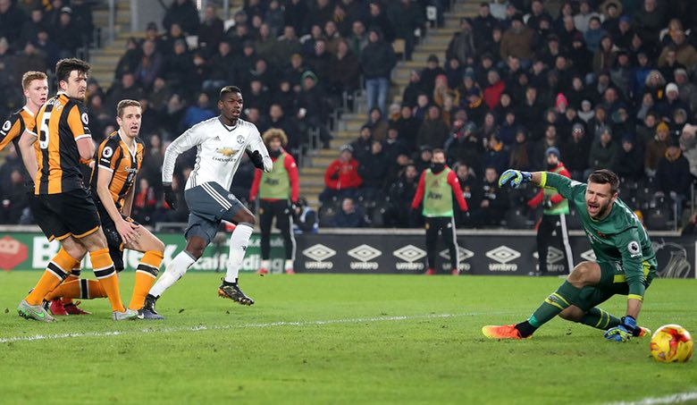 Pogba Goal Sends United Into EFL Cup Final Despite Hull Defeat