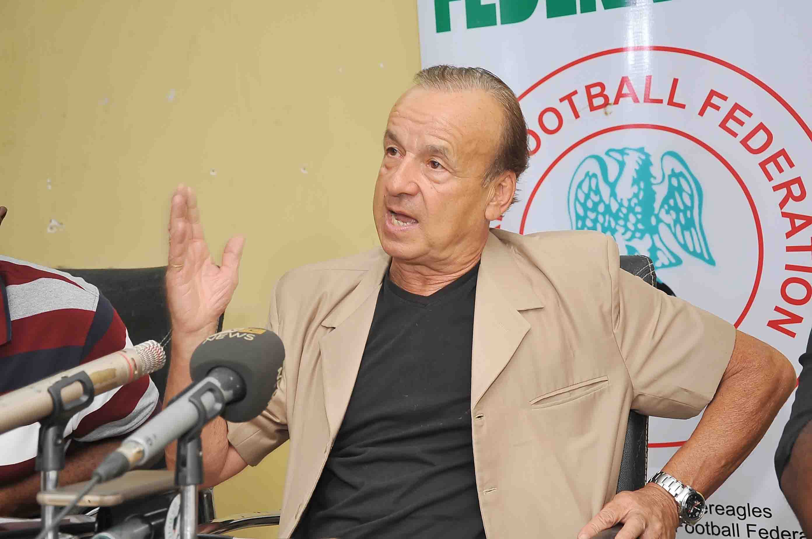 Rohr Dismisses Owed Salaries Reports; Focused On World Cup, AFCON Tickets