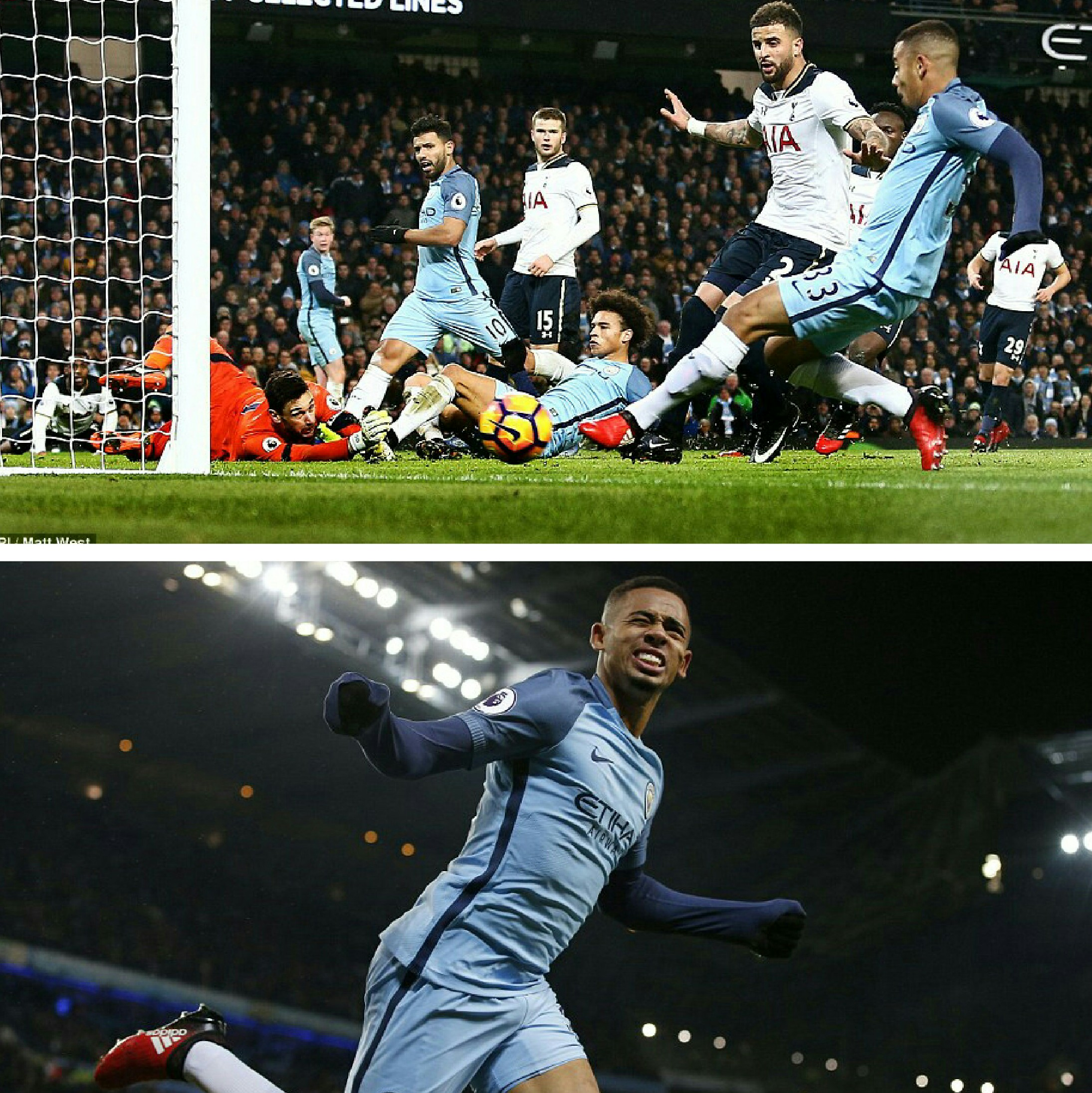 Jesus Debuts With Disallowed Goal As Tottenham Hold Man City At The Etihad; Iheanacho Missing