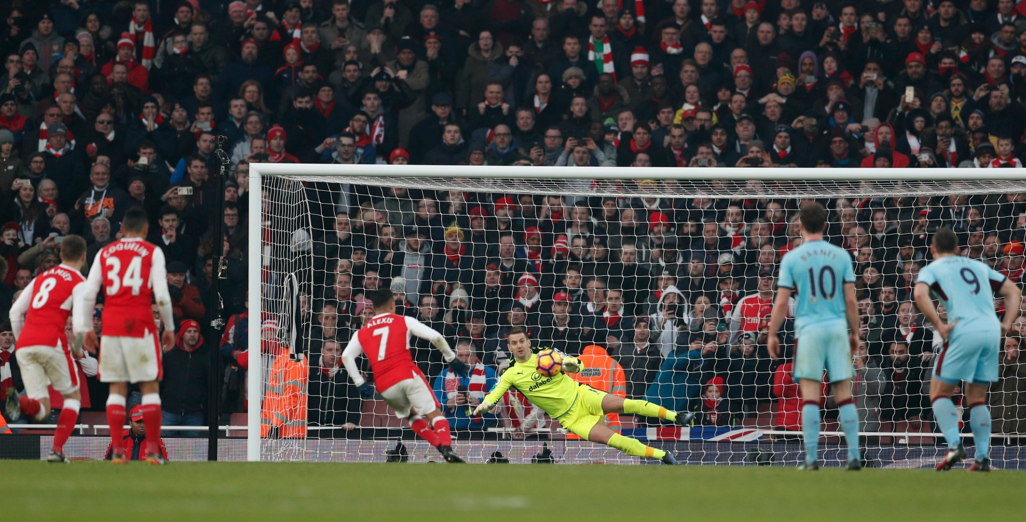 Iwobi Subbed Off As Sanchez Penalty Gives Arsenal Win Over Burnley