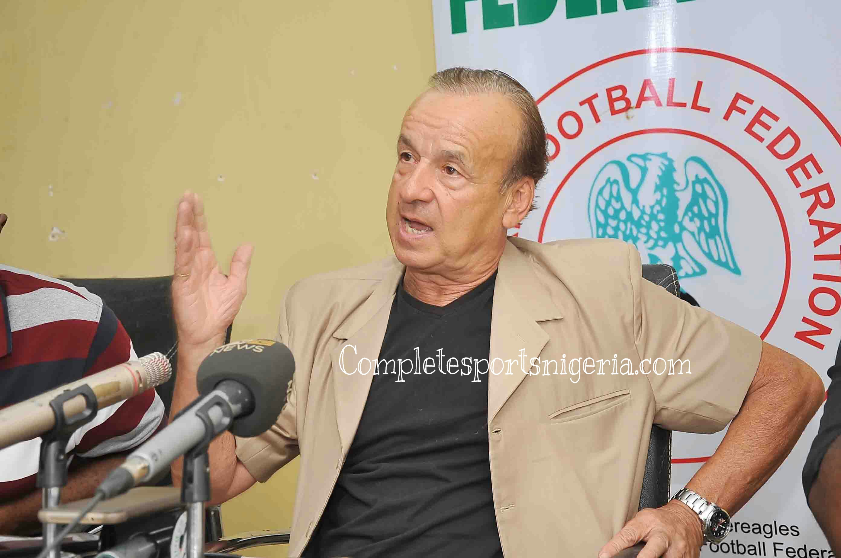 Rohr: Eagles'll Beat Cameroon, Mikel Should Avoid China; Iheanacho, Moses Will Rule Africa