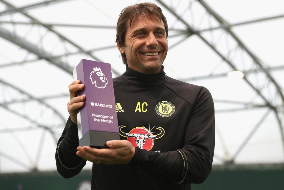 Conte Wins 3rd Consecutive EPL Manager Of The Month Award