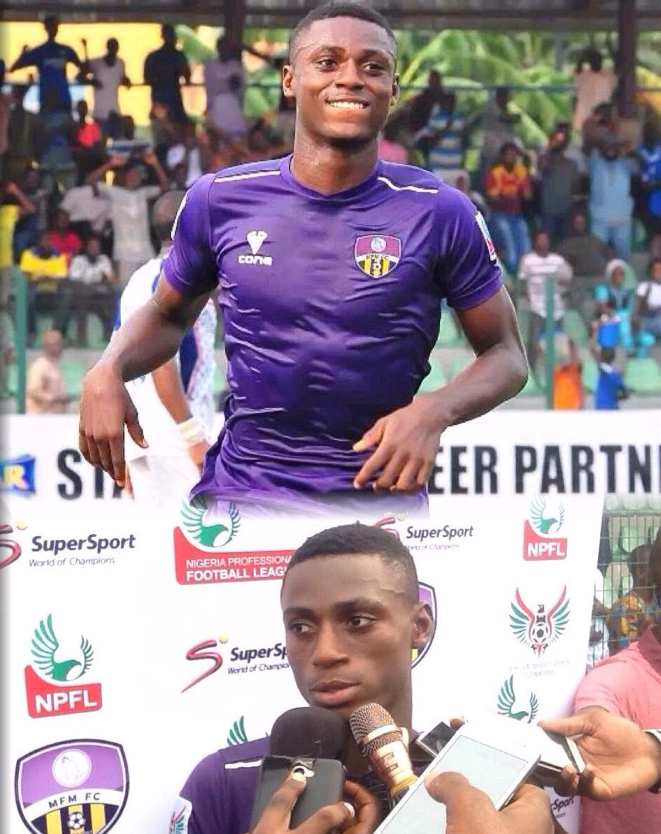 Hat Trick Hero, Odey: My Target Is More Than 10 Goals, To Help MFM FC Go Places