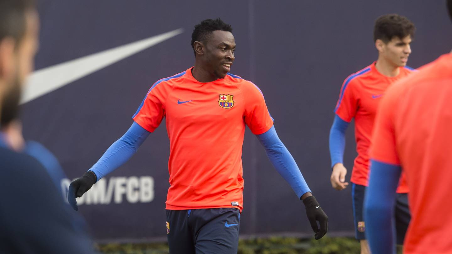 Bassey Keen To Secure Barca Work Permit, Relishes Training With Messi