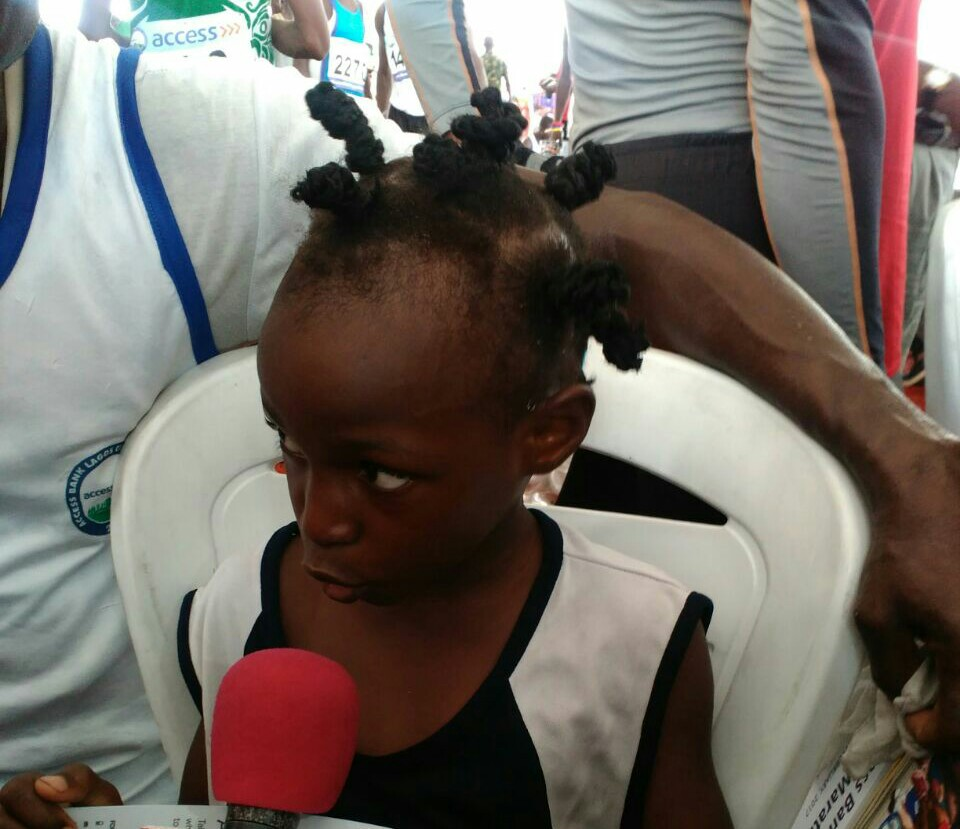 Seven-Year Old Damilola Who Ran Lagos Marathon: I Want To Excel Like Bolt