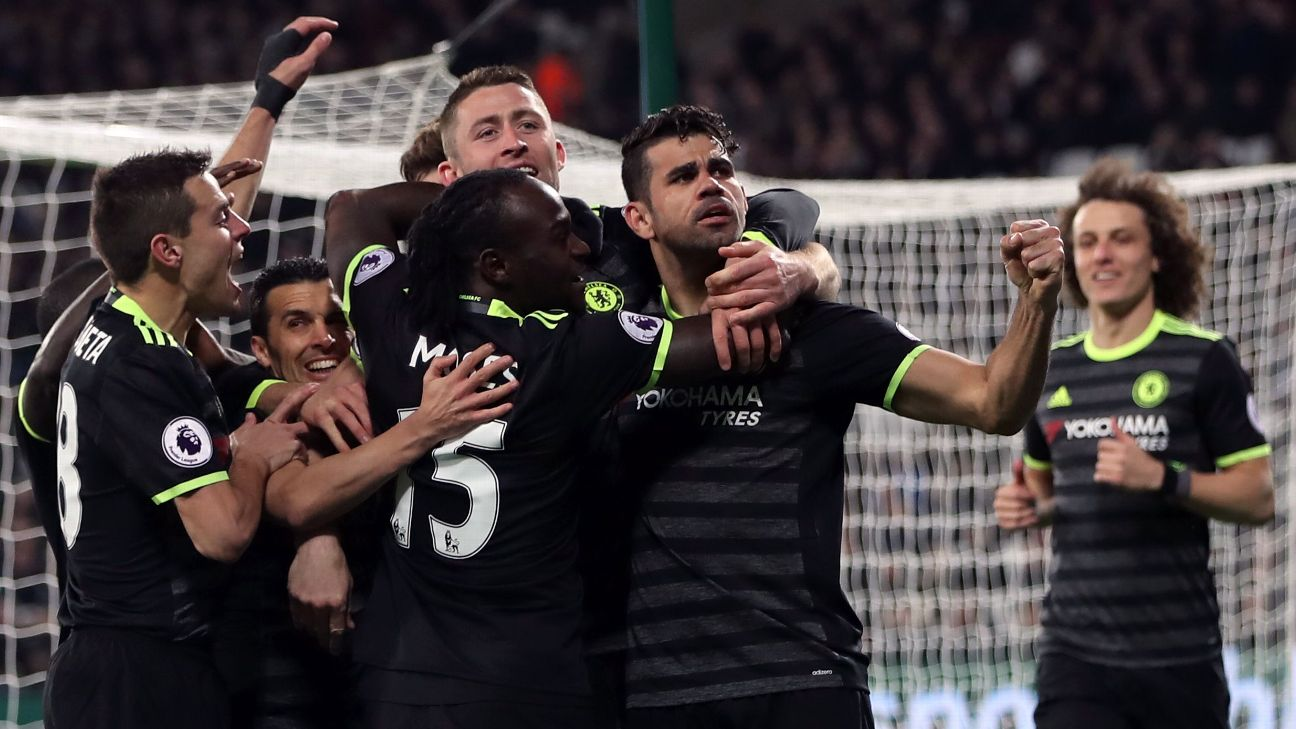 Moses, Hazard Shine As Chelsea Go 10 Points Clear