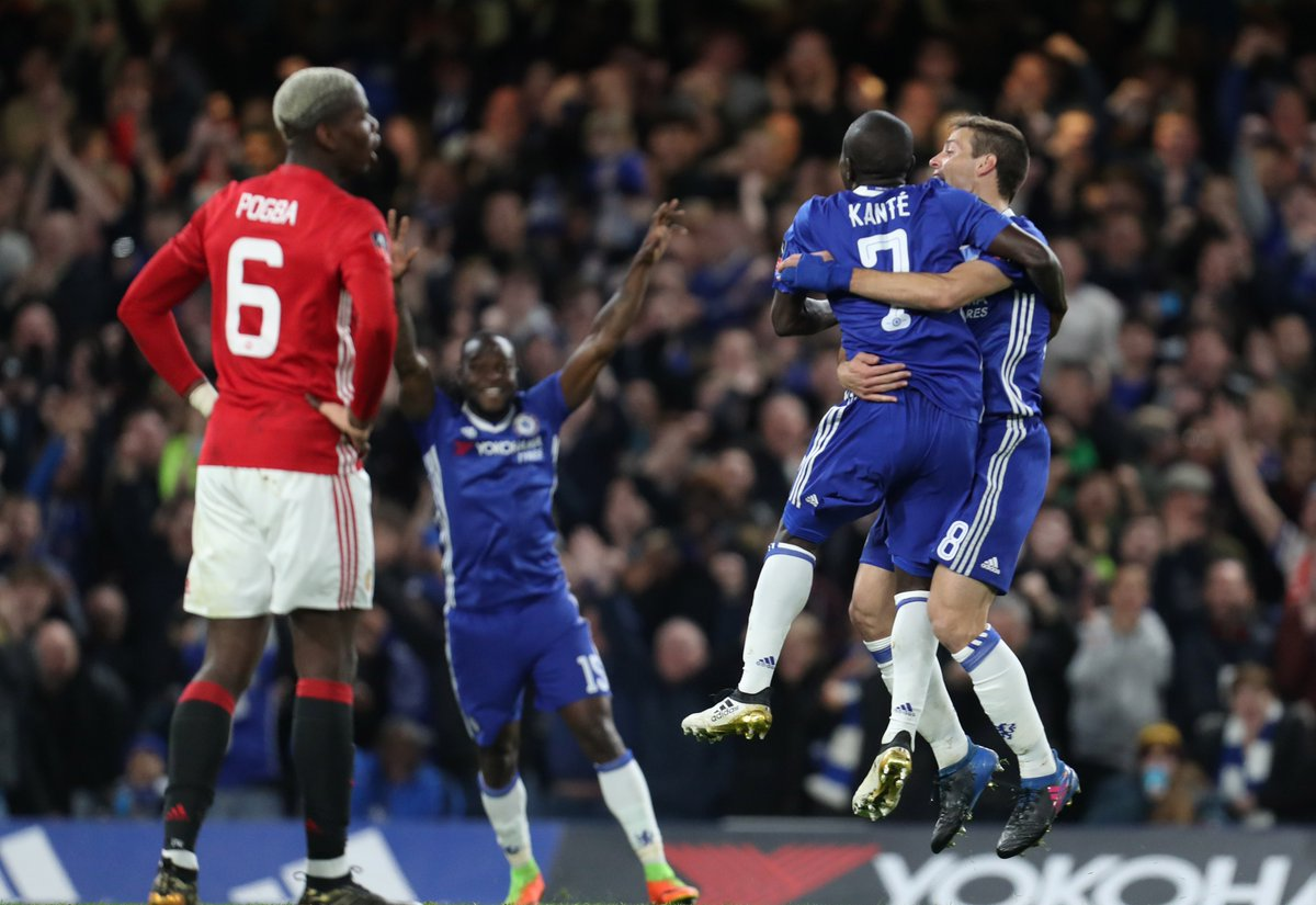 FA Cup: Moses Shines As Kante Fires Chelsea Past 10-Man United
